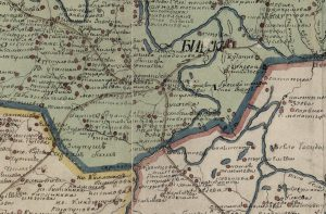 The ancestral village is somewhere on this 1802 map.